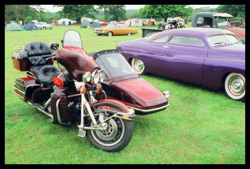 Harley Electra Glide + Squire RX4 sidecar.