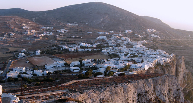 Chora, dusky view from the hill