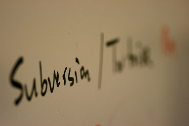 Subversion on a whiteboard