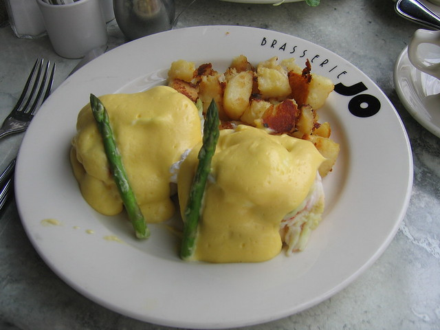 Lobster eggs benedict | Brasserie Jo, Boston. A decadent bru ...