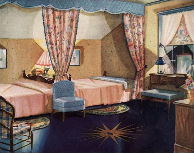 1930 Armstrong Linoleum Ad Bedroom This Bedroom Was