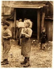 Lewis Hine: Bertha, six year old oyster shucker, Port Royal, South Carolina, 1912