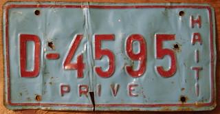 HAITI 1987-89 PRIVATE PASSENGER plate