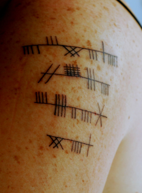 ogham tattoo | Flickr - Photo Sharing!