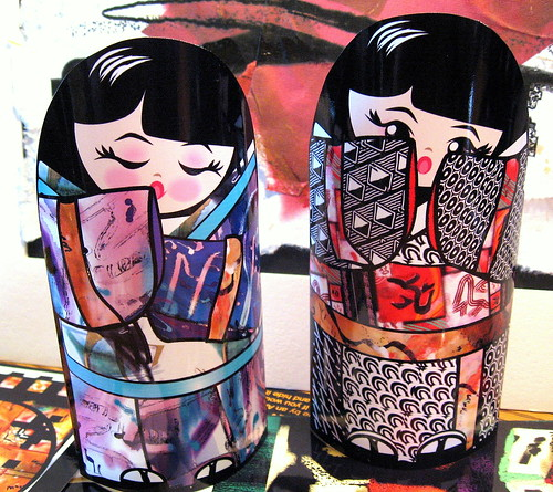Kokeshi Dolls, Sleepy and Peek-a-Boo