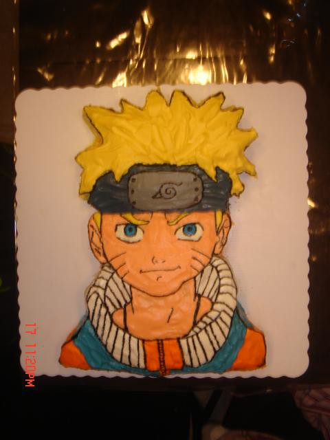 Anime Birthday Cake Photo