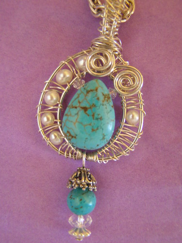 Sterling Silver Turquoise and Pearls