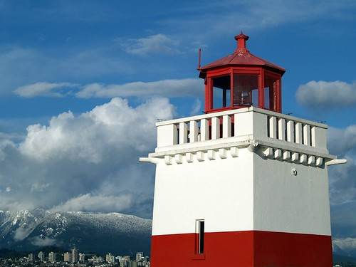 Lighthouse and Mountains