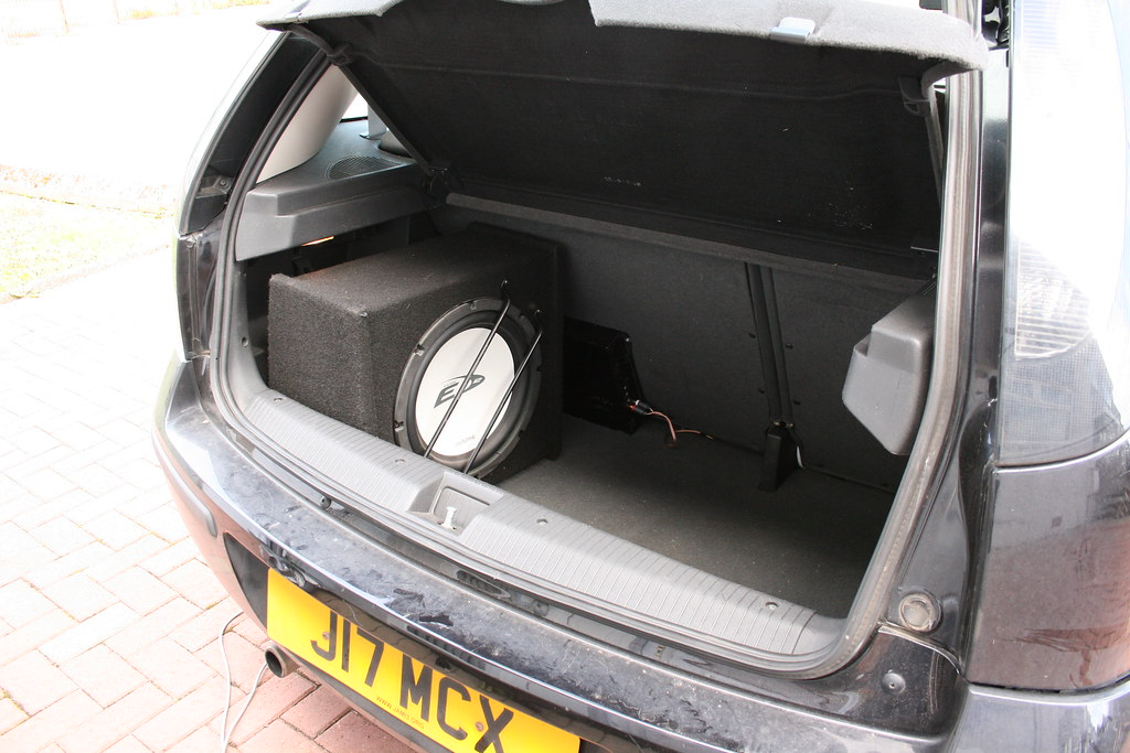 Boot with Subwoofer and Amplifier