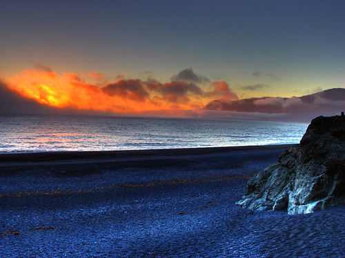 california sunset beach blacksand coast pacific roadtrip 101 day3 hdr masterpiece lostcoast sheltercove