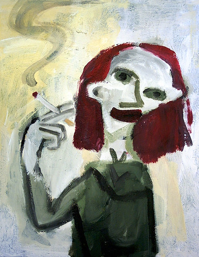 Red Haired Girl Smoking