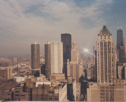 The city of Chicago skyline. Chicago Illinois 1979. by Eddie from Chicago