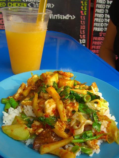 Streetside Squid Red Curry - Bangkok, Thailand