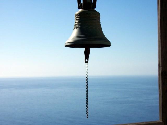 Heavens bell on Simonopetra monastery Mount Athos