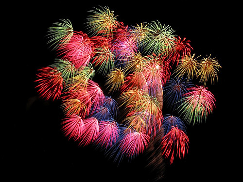spectrum of fireworks, great display of colours