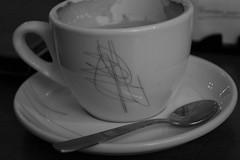 espresso(0.0), cappuccino(0.0), coffee(0.0), drink(0.0), caffeine(0.0), dishware(1.0), serveware(1.0), cup(1.0), white(1.0), cup(1.0), drinkware(1.0), tableware(1.0), saucer(1.0), monochrome photography(1.0), coffee cup(1.0), ceramic(1.0), monochrome(1.0), black-and-white(1.0), black(1.0), porcelain(1.0),