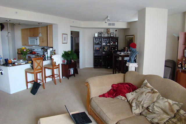 Wide angle shot of the domicile