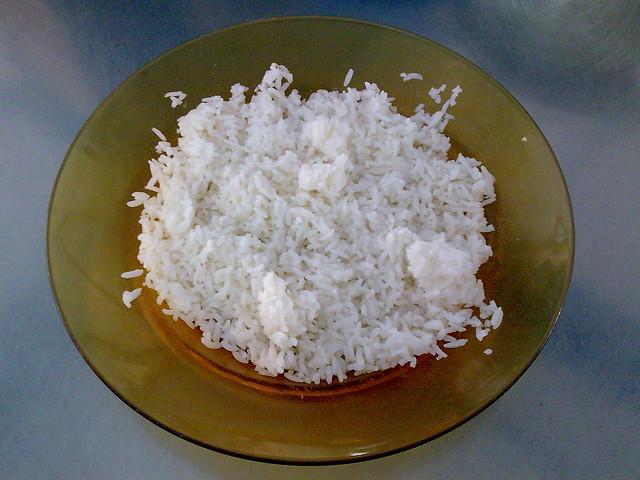 Nasi putih dari beras Faiza Taj Mahal   Flickr - Photo Sharing!