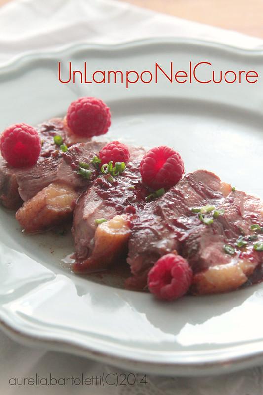 Petto d'anatra al marsala e salsa di lamponi2