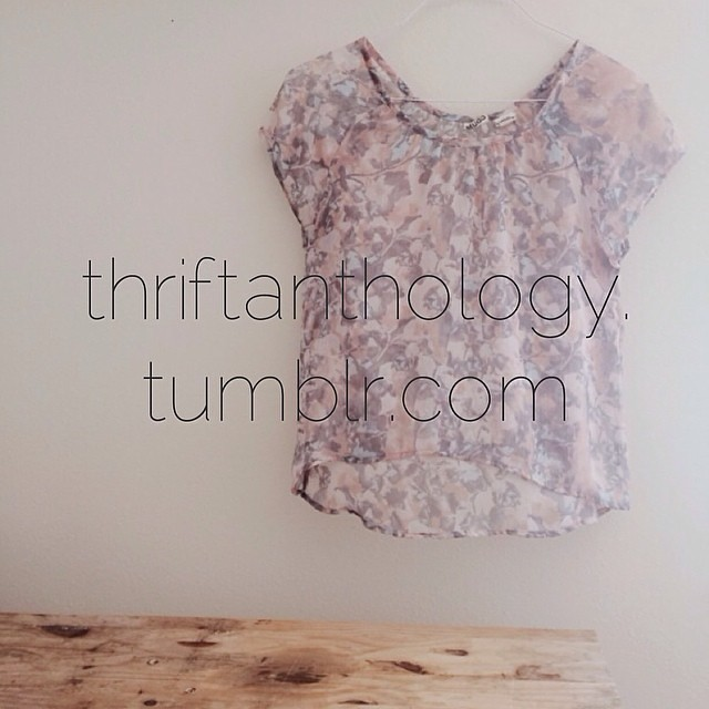 @hollymkent and I started a tumblr blog to document our thrifted finds and thoughts on thrifted culture: thriftanthology.tumblr.com . If you are in to thrifting, whether seriously or casually, we'd love for you to share your thrifted treasure pics and tho
