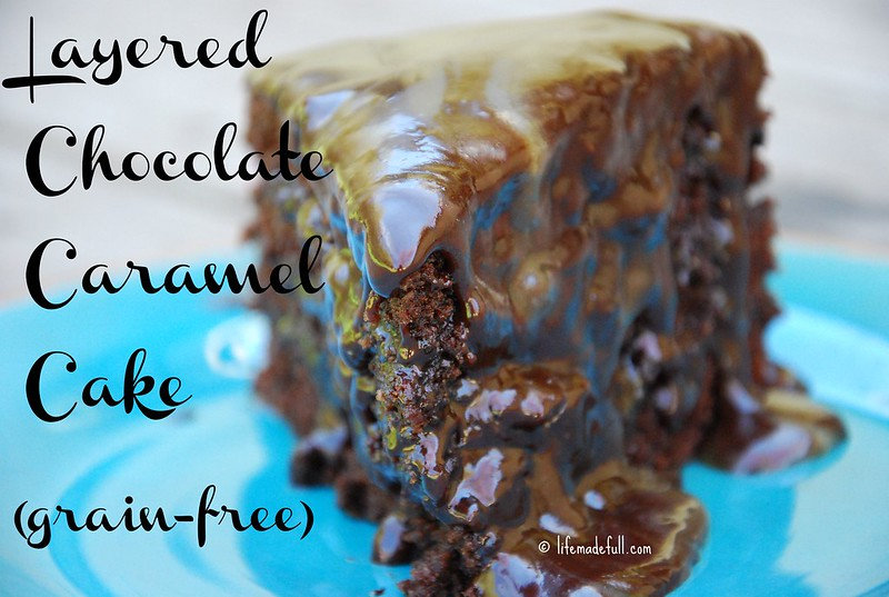 layered chocolate caramel cake
