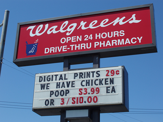 Funny Walgreens sign