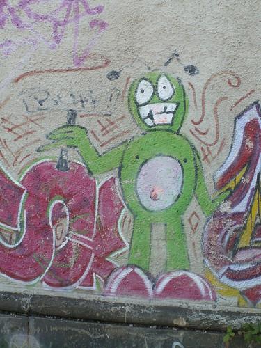 keine wissenschaftlicher Behandlung der Graffiti Bauhofstrasse Dresden 009
