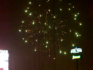 Fireworks After the Railcats Game
