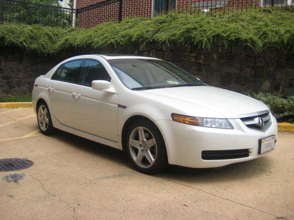 2005 pearl white acura tl with navigation warranty. Black Bedroom Furniture Sets. Home Design Ideas