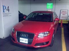 audi a1(0.0), automobile(1.0), automotive exterior(1.0), audi(1.0), executive car(1.0), vehicle(1.0), audi a3(1.0), compact car(1.0), bumper(1.0), land vehicle(1.0), vehicle registration plate(1.0),
