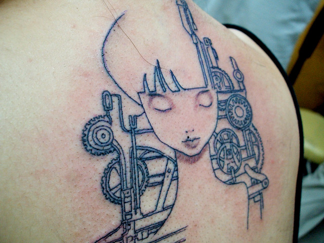 audrey kawasaki tattoo | done in 30mins | By: revengeofthe ...