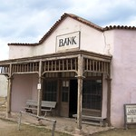 Bank at the Movie-Set ghost town of Alamo Village, Texas - alamovillage029