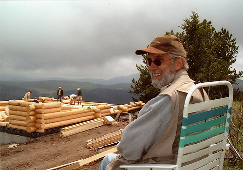 Gregg surveying the work