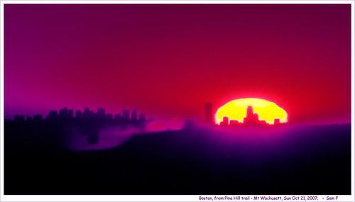 autumn fall boston sunrise nikon massachusetts princeton mtwachusett bostonsunrise pinehilltrail