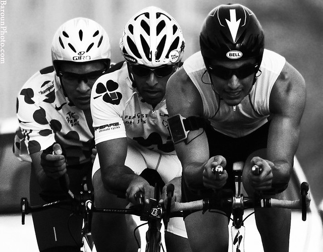 Bicycle racing..