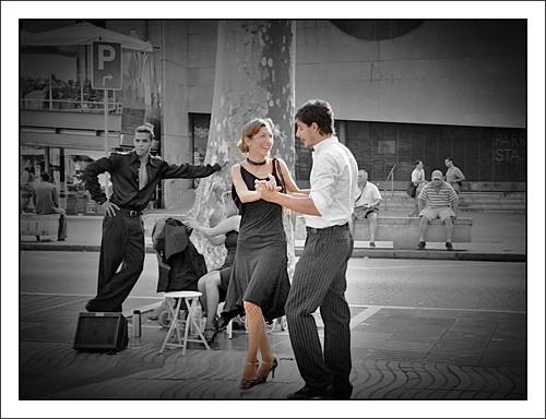 Tango Dancers on Las Ramblas