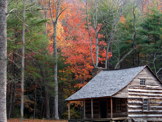 Cabin in the Woods at Smoky Mountain National Park Gatlinburg Tennessee