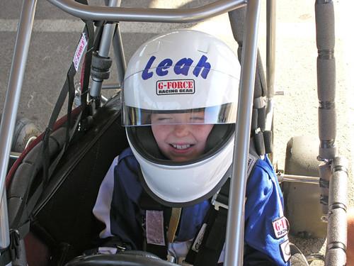 Leah Age 10 in her quarter midget