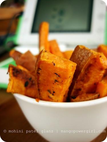 XO and Baked Sweet Potato Sticks