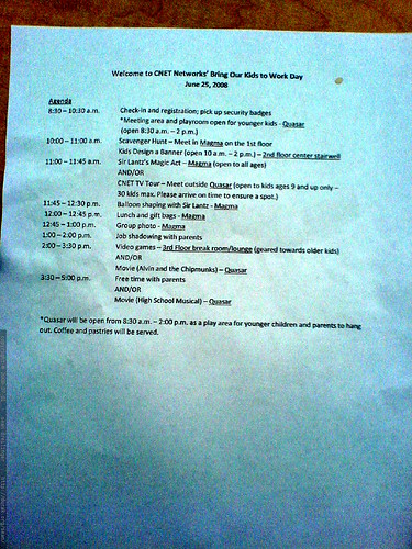 agenda for cnet networks take your kids to work day   DSC01123