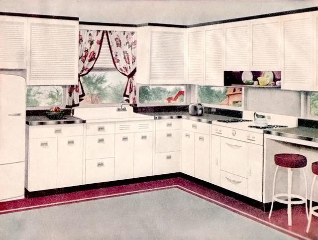 1947 pink gray kitchen flickr photo sharing for 1925 kitchen designs