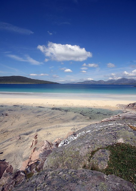 Taransay and North Harris from Luskentyre beach
