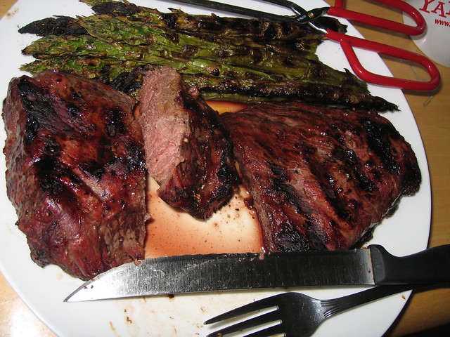 grilled buffalo steak and asparagus | Flickr - Photo Sharing!