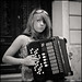girl with accordion by Stijn Coppens