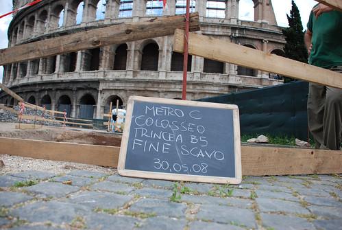 "ROME - ARCHAEOLOGICAL NEWS: ""Roma - Scavi al Colosseo, ultimi tesori (i cantieri della Metro C)..."" / The New Metro C Excavations & Discoveries at the Colosseum (May 2008). Foto: Stefania Faro (30.05.2008)."