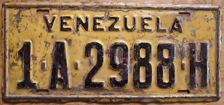 VENEZUELA 1955 NATIONAL PASSENGER ISSUE plate