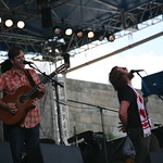 Sunday at the Newport Folk Festival, 2008 - Jim James steps to the mic