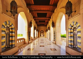 Oman - Muscat - Inside of Sultan Qaboos Grand Mosque complex
