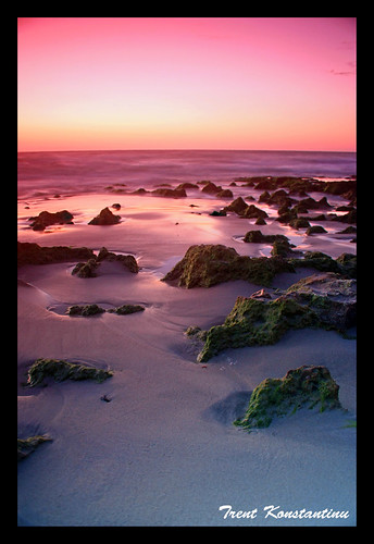 ocean longexposure pink sunset red sea sky beach water canon sand rocks long exposure waves north australia trent perth northbeach western coastline splash filters suns hoya kostas dlsr cokin canoneos450d trentkostas