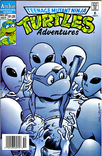 """TEENAGE MUTANT NINJA TURTLES ADVENTURES"" #49.. cover art by Chris Allan & Ryan Brown  (( 1993 ))"